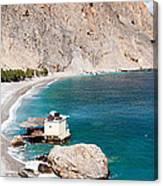 View Of The Glikanera Beach, Hora Canvas Print
