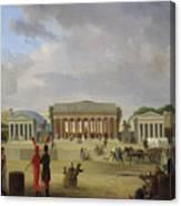 View Of The Grand Theatre Constructed In The Place De La Concorde For The Fete De La Paix Canvas Print