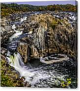 View Of The Great Falls Canvas Print