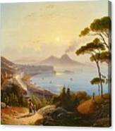 View Of The Gulf Of Naples Canvas Print