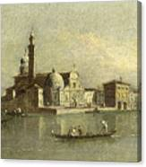 View Of The Isola Di San Michele In Venice Canvas Print