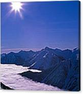 View Of The Kicking Horse Resort Canvas Print