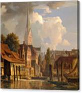 View Of The Little Alster Canvas Print