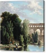 View Of The Pont Du Gard Canvas Print
