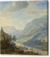 View Of The Rhine River Near Reineck Canvas Print