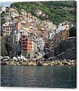 View Of The Riomaggiore, La Spezia Canvas Print