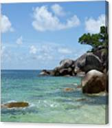 View Of The Sea And A Rocky Coastline Canvas Print