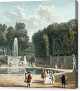 View Of The Tuileries Garden Canvas Print