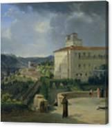 View Of The Villa Medici In Rome Canvas Print