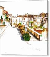 View Of The Village Canvas Print