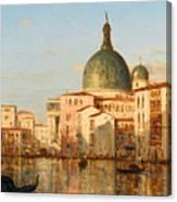 View Of Venice With San Simeone Piccolo Canvas Print