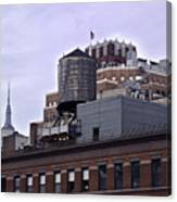 View Of Water Tank From High Line Park Canvas Print