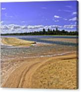View Of Wollumboola Lake From Sand Dunes Canvas Print