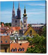 View Of Zagreb Canvas Print