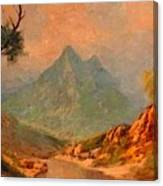 View On Blue Tip Mountain H A Canvas Print