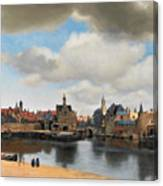 View On Delft Canvas Print