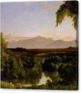View On The Catskill Canvas Print