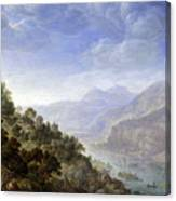 View On The Rhine Canvas Print