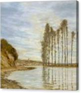 View On The Seine,  Harp Of The Winds , Homer Dodge Martin Canvas Print
