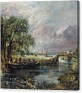 View On The Stour Near Dedham Canvas Print