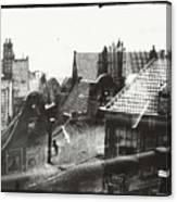 View Over Rooftops In Amsterdam  George Hendrik Breitner  C  1890    . 1910 Canvas Print