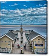 View Over The Pier Canvas Print