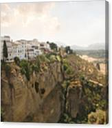 View Over The Tajo Gorge Ronda Home Of Bullfighting Canvas Print