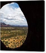 View Through A Portal, Sedona, Arizona Canvas Print