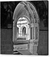 View Through An Arch Canvas Print