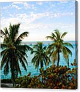 View To The 7 Mile Bridge Canvas Print