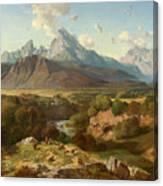 View To Watzmann And Hochkalter Canvas Print