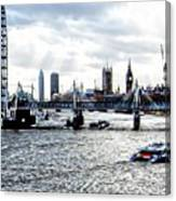 View To Westminster London Canvas Print
