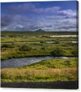 View Towards Lake Myvatn Iceland Canvas Print