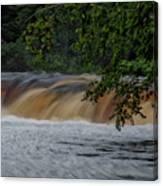 Viewing Tahquamenon Lower Falls Upper Peninsula Michigan 02 Canvas Print