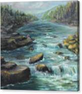 Viewing The Rapids Canvas Print