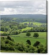 View Of The Surrey Hills From Newlands Corner Canvas Print