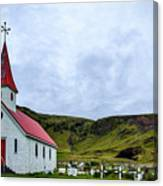 Vik Church And Cemetery - Iceland Canvas Print
