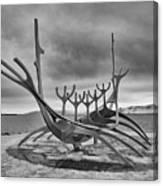 Viking Ship Sculpture Canvas Print