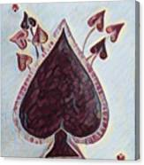 Vikings Ace Of Spades Canvas Print