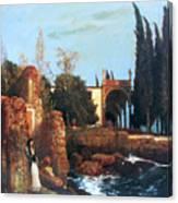 Villa By The Sea 1878 Canvas Print