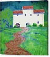 Villa In Tuscany Canvas Print