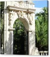 Villa Vizcaya Garden Gate Canvas Print