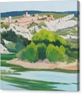 Village Above L'ardeche  Canvas Print