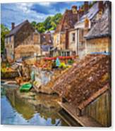 Village At The River Canvas Print