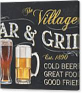 Village Bar And Grill Canvas Print