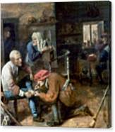 Village Barber-surgeon Canvas Print