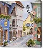 Village In Alsace Canvas Print