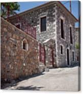 Village In Greece Canvas Print