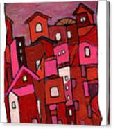Village In Pink Canvas Print