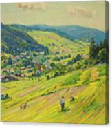 Village In The Foothills Canvas Print